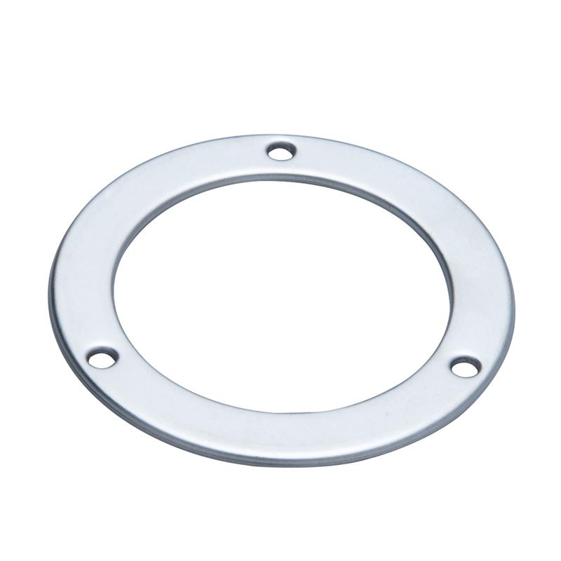 Stainless steel stamping parts Radial card slot pressure gauge flange