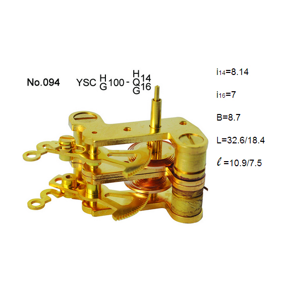 Brass double movement for pressure gauge