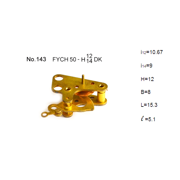 OEM brass reversed assembling movement for pressure gauge accessories